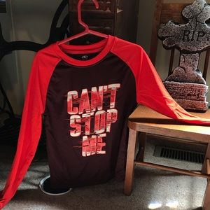 Boys Athletic works long sleeve polyester shirt